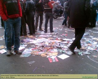 2-2_Bah-man1388_Tehran_Posters-on-the-ground--